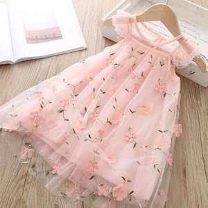 Summer children's clothing bright color cute lace dress children's sleeveless princess children's dress