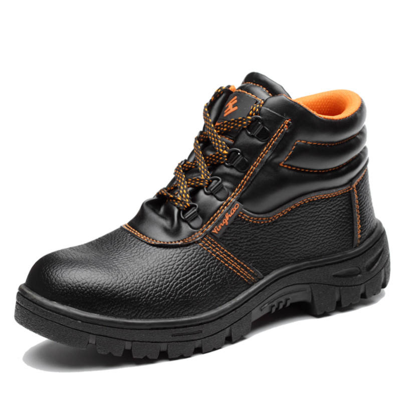 Hot Selling Cheap PU Leather Safety Shoes boots with Steel Toe Cap and Steel Plate