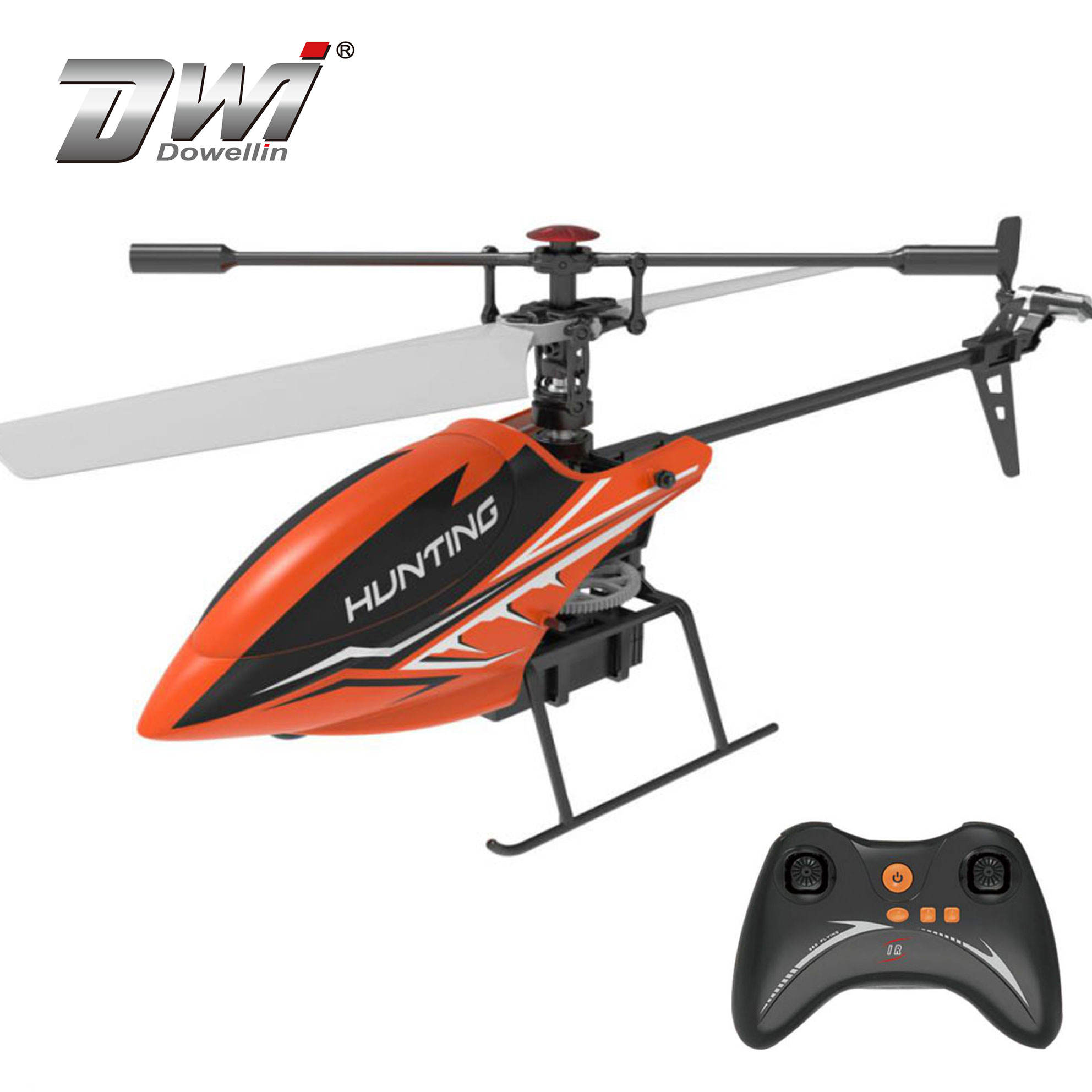 DWI Dowellin 2.4G Hoverable Single Pulp 2 Channel Helicopter Model With One Key Takeoff