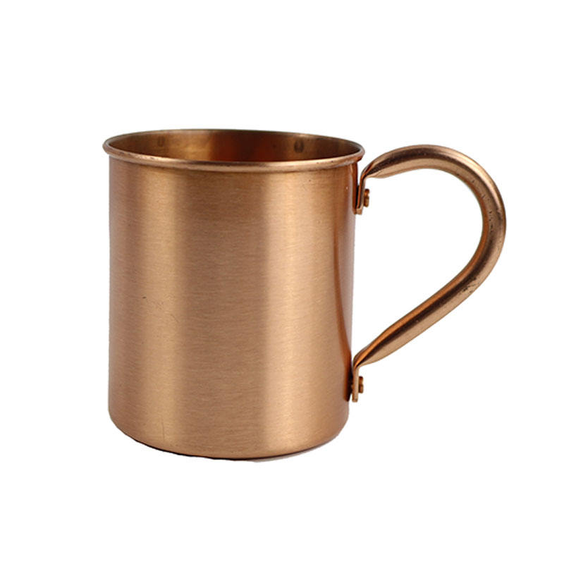 14oz Metal Cup Outdoor Portable Cup 100% Pure Copper Cup Moscow Mule Mug with Handle