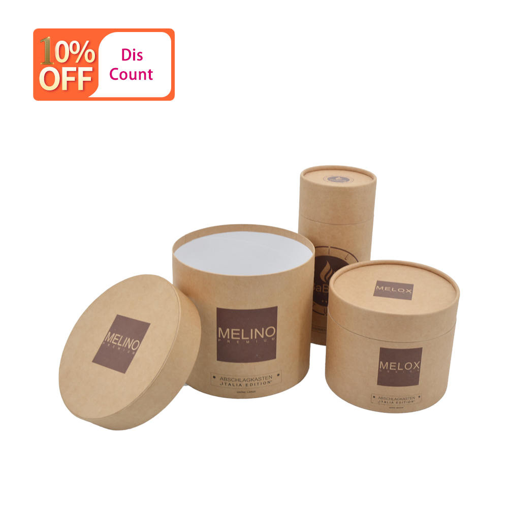 Low Moq 2020 Custom high quality artpaper cardboard packaging tube round box