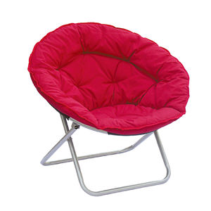 Camping Padded Cheap Large Saucer Folding Moon Round Chairs