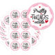 Pretty Things Inside Stickers - Round Pink Thank You Stickers with Hearts - 2 Inch 500 Total Labels (Pink)