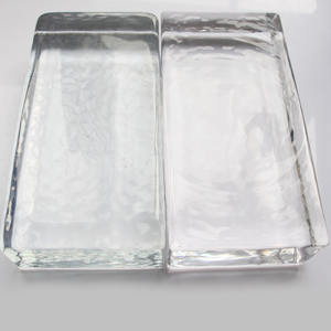 Machine made glass brick hot melt glass bricks for home decoration