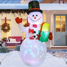 Ourwarm Wholesale 5ft Outdoor Decoration LED Lights US Christmas Snowman Inflatable
