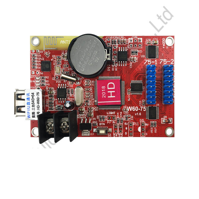 Huidu Single Dual Color WIFI Control Card HD-W60-75 Use For P10 Single Color Led Module Display Screen