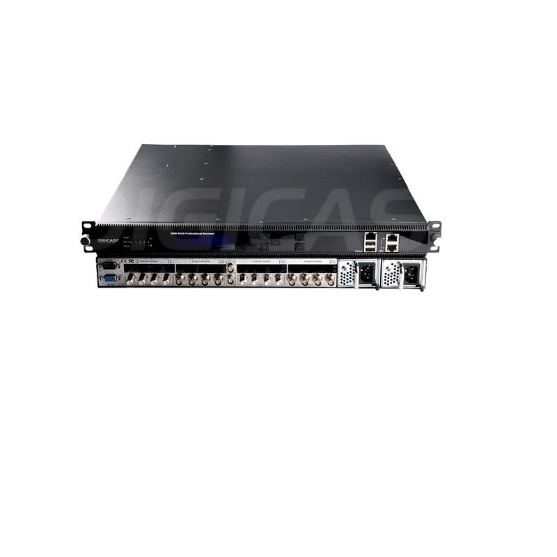 головной убор зашифрованный приемник с 8 CI слотов для спутниковой Cam карты Descrambling 8 * тюнеры к IP ASI декодер $