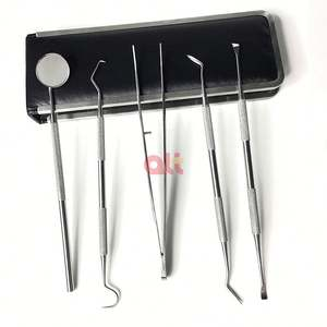 5pcs Stainless Steel Dental Tools Kit Dentists Pick Tool Teeth Scraper Set dental hygiene dental tool kit