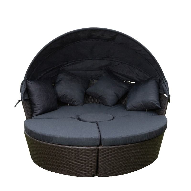 2020 New design Garden furniture Outdoor furniture round rattan woven waterproof sofa rattan sofa
