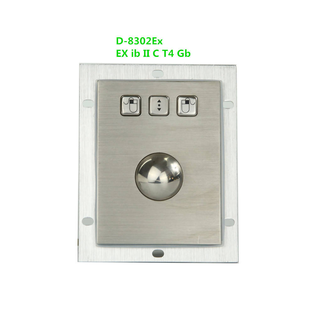 Explosion-Proof Metall Maus Panel Mount <span class=keywords><strong>Trackball</strong></span> 3 Tasten Ex Ib IIC T4 Gb Schutz Ebene