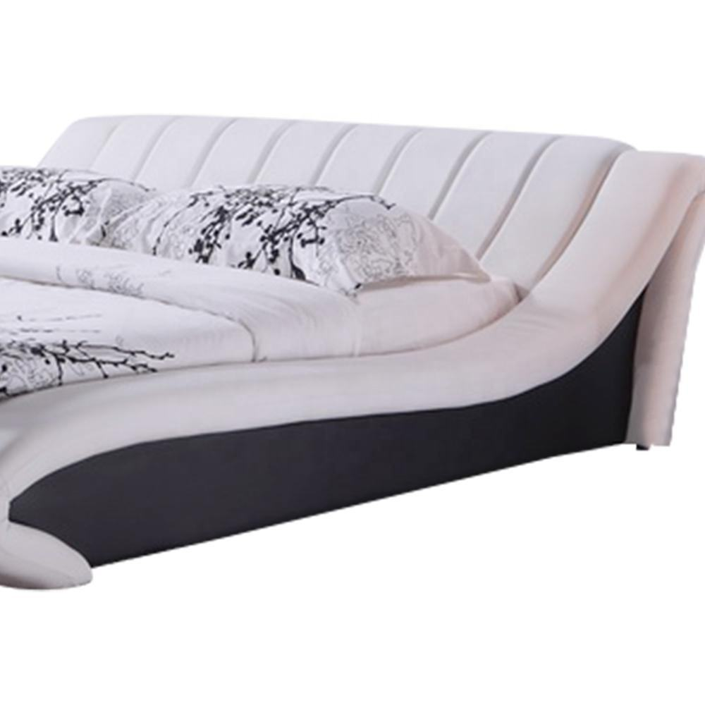 Best selling full size cheap faux leather sleigh bed