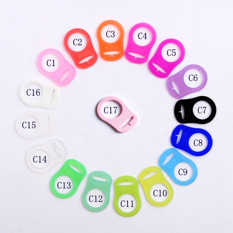 Silicone MAM Adapter Rings 16 colors /Silicone Pacifier Clip Adapters Silicone Pacifier Holder Ring