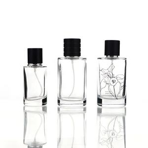 China Custom 100ml Spray Luxury Perfume Bottle Cylinder Shape Empty Perfume Bottles For Sale