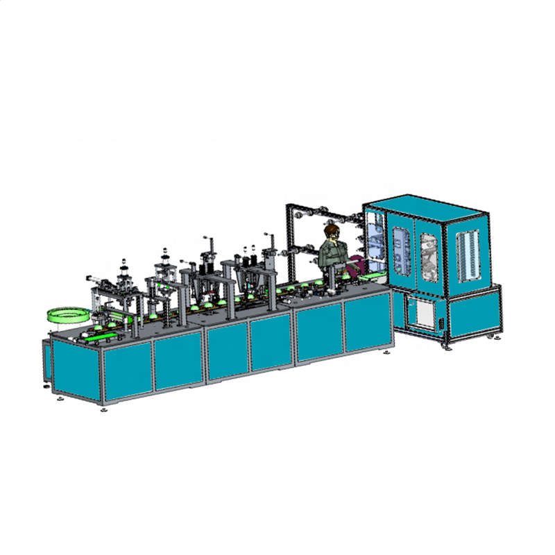 Fully automatic N95 cup mask machine Mask machine manufacturer