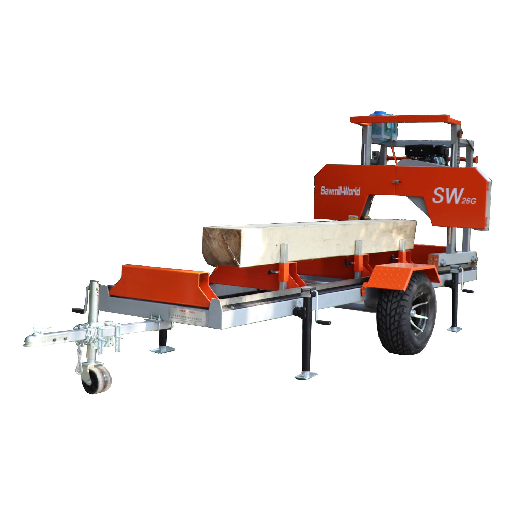 SW26G Portable Band Sawmill Machine For Wood Cutting