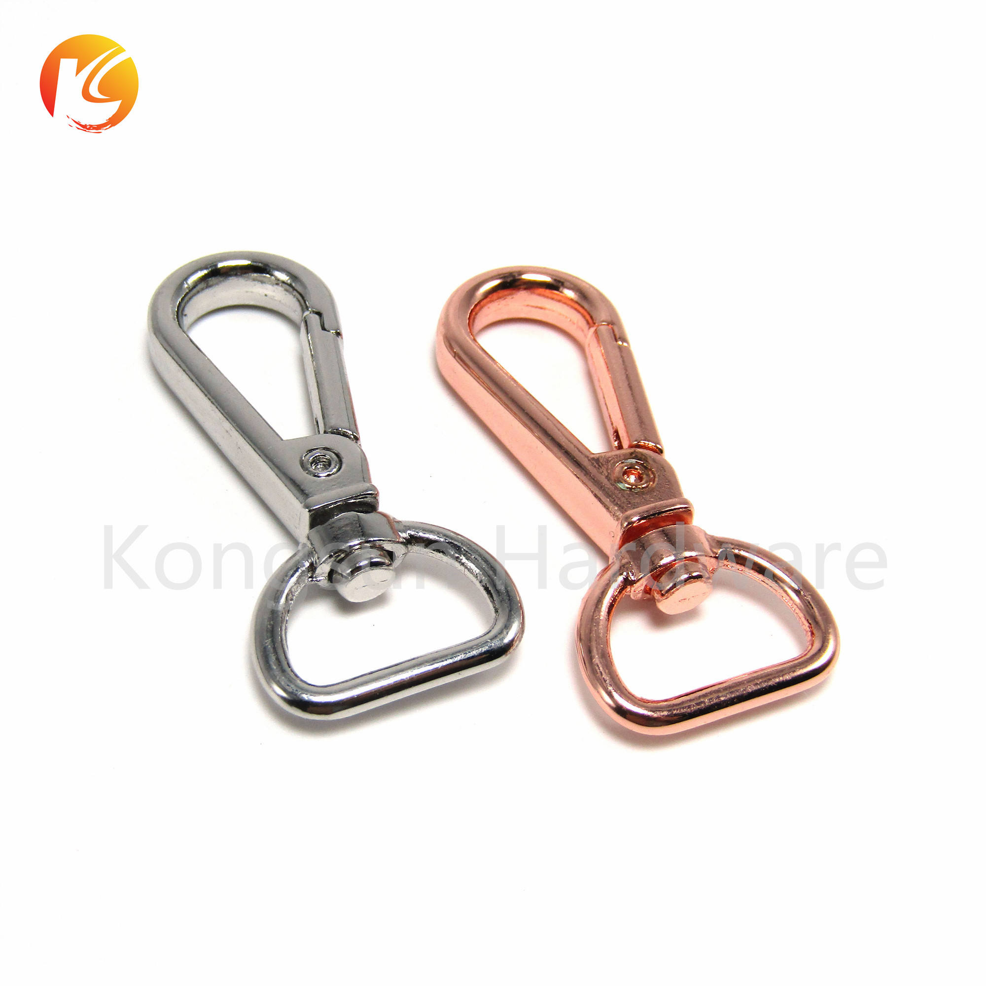 Metal Swivel Trigger Clip 16mm 25mm Dog Lead Leather Craft Snap Hook Rose Gold Silver Leash Snap Lead Clasp