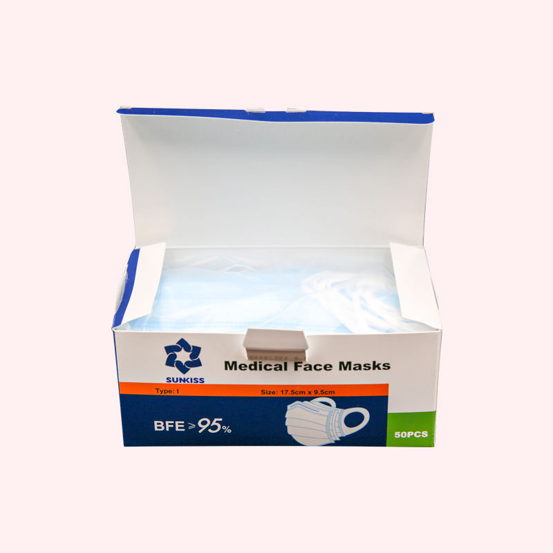 Manufacturers Direct Selling 3Layer Disposable Medical Face Mask With Nonwoven And Melt Blown Fabric