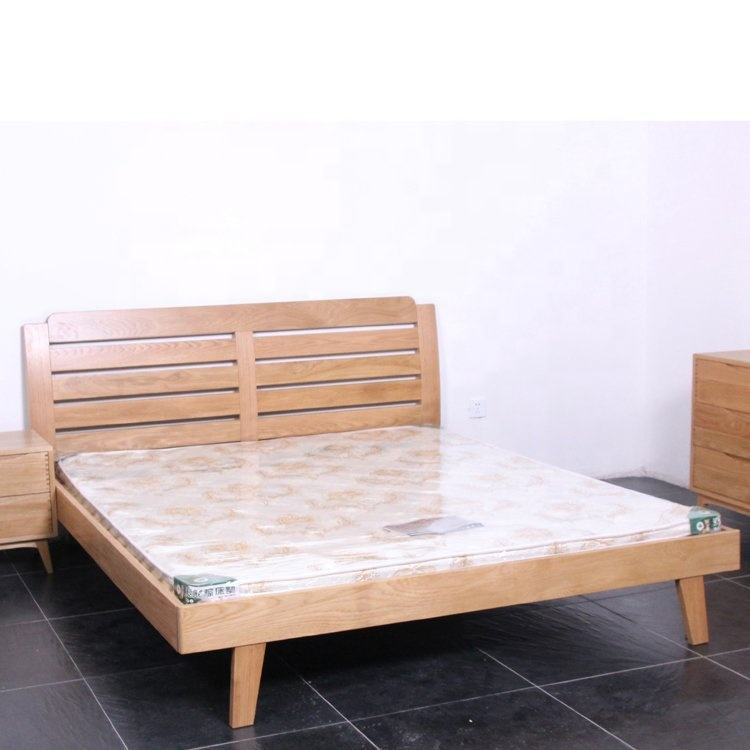 Professional manufacturer wood red oak pinewood MDF single bed king double beds queen beds and king beds Assembled bed