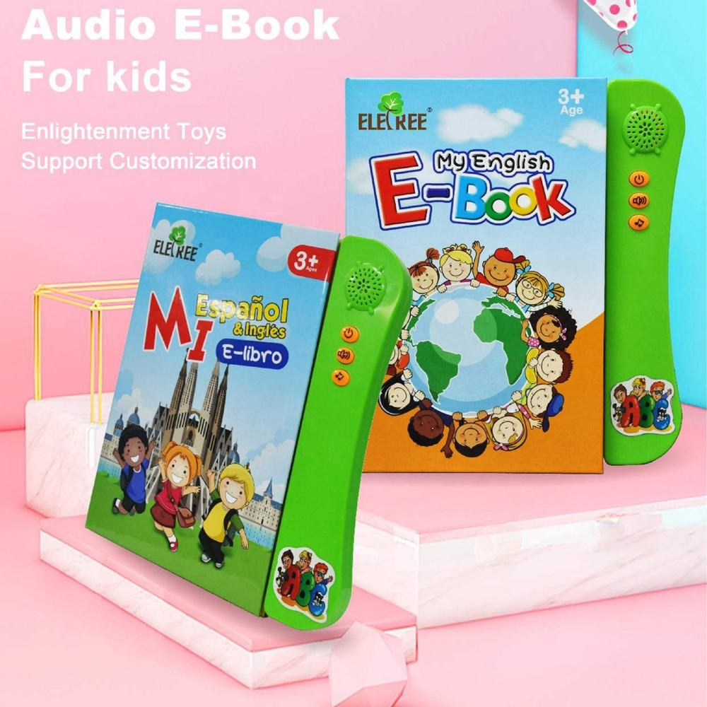 My First Word Book Early Development Electronic Activity ABC Games Spelling Spanish-English Tablet kids toy import