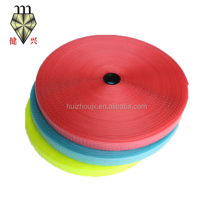 Factory Wholesale Colorful Eco-friendly OEKO-TEX100 Garments 100% Nylon 25mm Width Hoop And Loop Tape