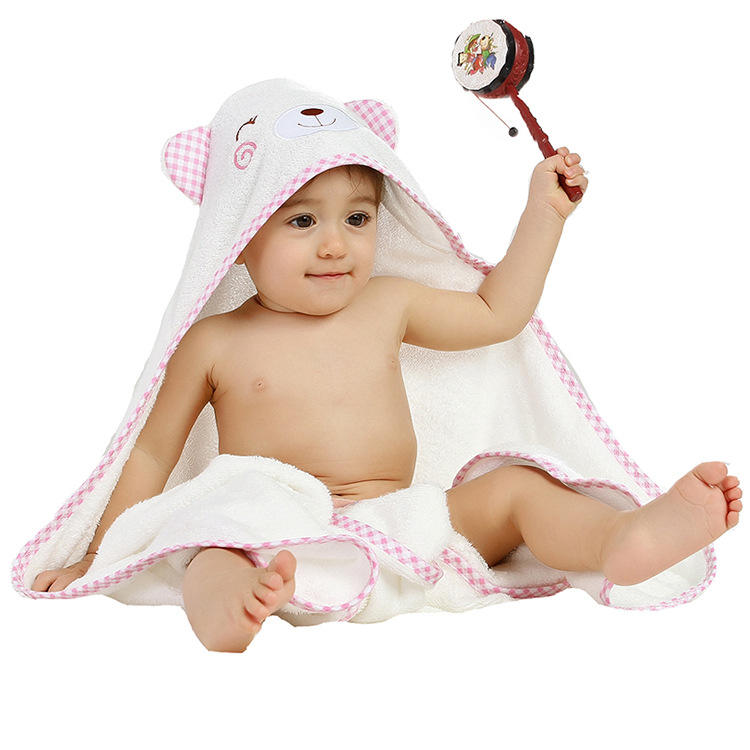 Muslin tree 90*90cm 100% cotton compressed baby hooded bath towel