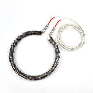 400v 1900w SUS316 Round Finned Air Heating Elements Tube for Air Duct Heater