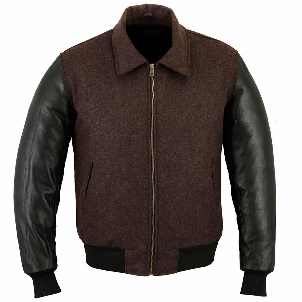 College Jacket with leather sleeves in 6x Colours Varsity Jacket
