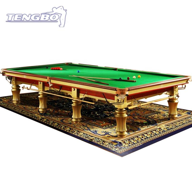 Black slates 12ft snooker billiard pool table solid wood with steel cushion
