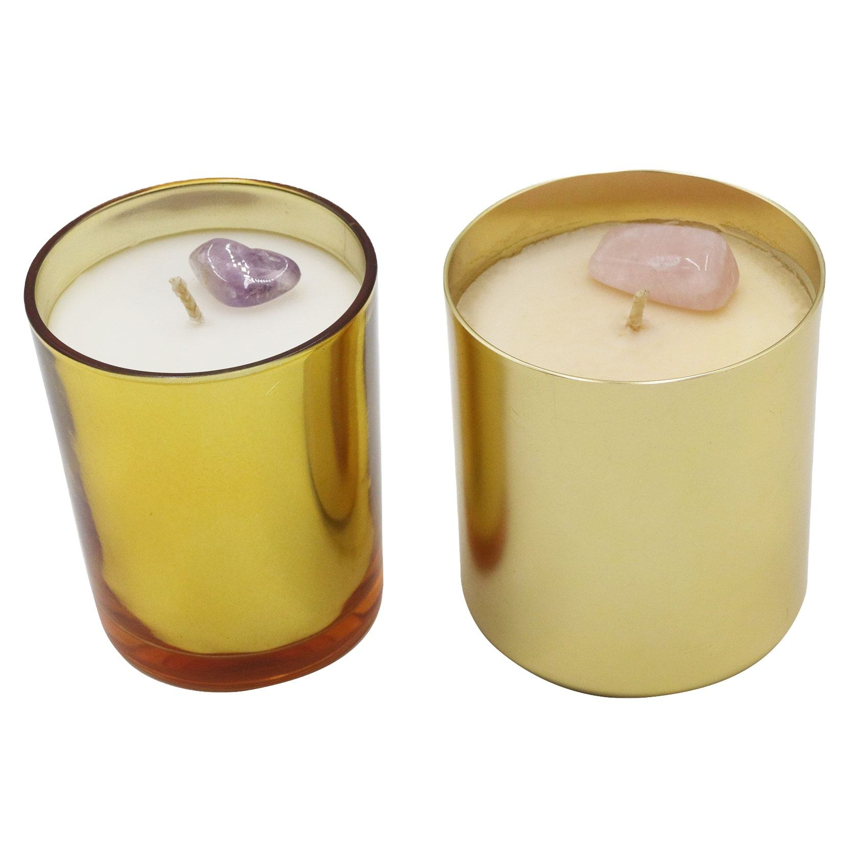 Healing Spirit Crystal Stone Aromatherapy Scented Candle