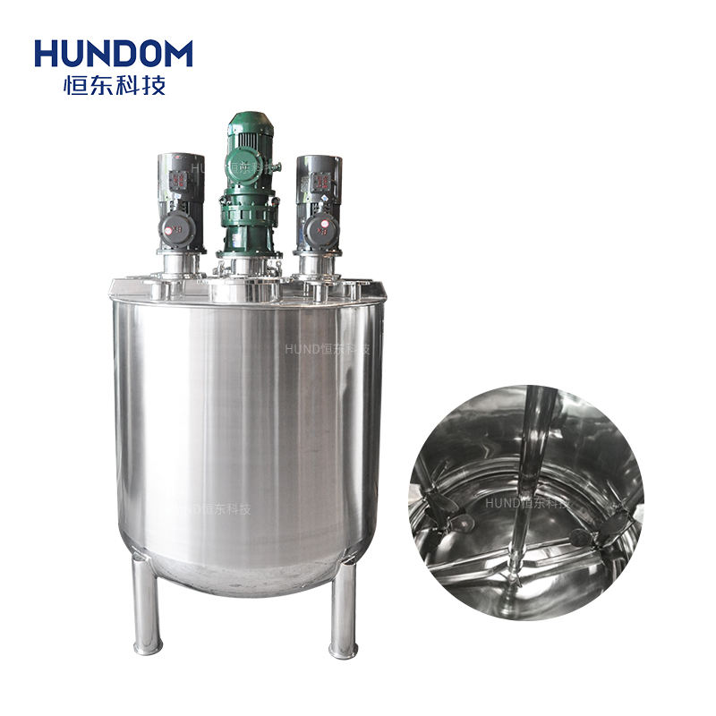 1000 liter stainless steel industrial automatic paint mixing tank with explosion proof motor