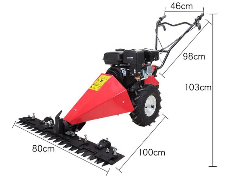 170 F Petrol grass cutting machine gas powered big farm wild grass scissor mower with 80/120cm blades