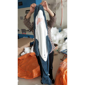 drop shipping gray shark toys plush pillow stuffed animals for kids gifts Wholesale price unstuffed plush animal skins