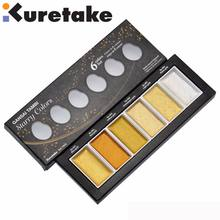 ZIG Kuretake Paints GANSAI TAMBI Starry Colors Solid Paints Metallic Gold Watercolor Paints Pearl Color Star Color Paints Japan