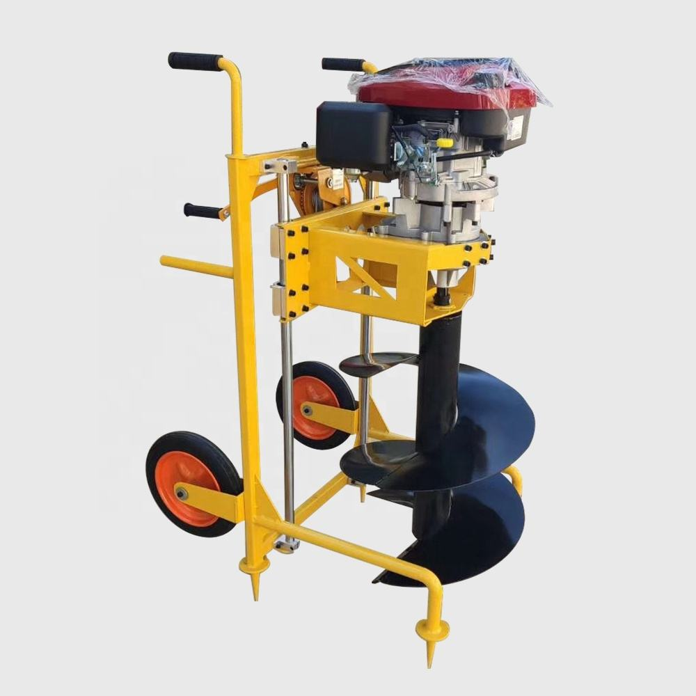 Heavy-Duty Hole Drilling Machine 196cc Portable Earth Auger