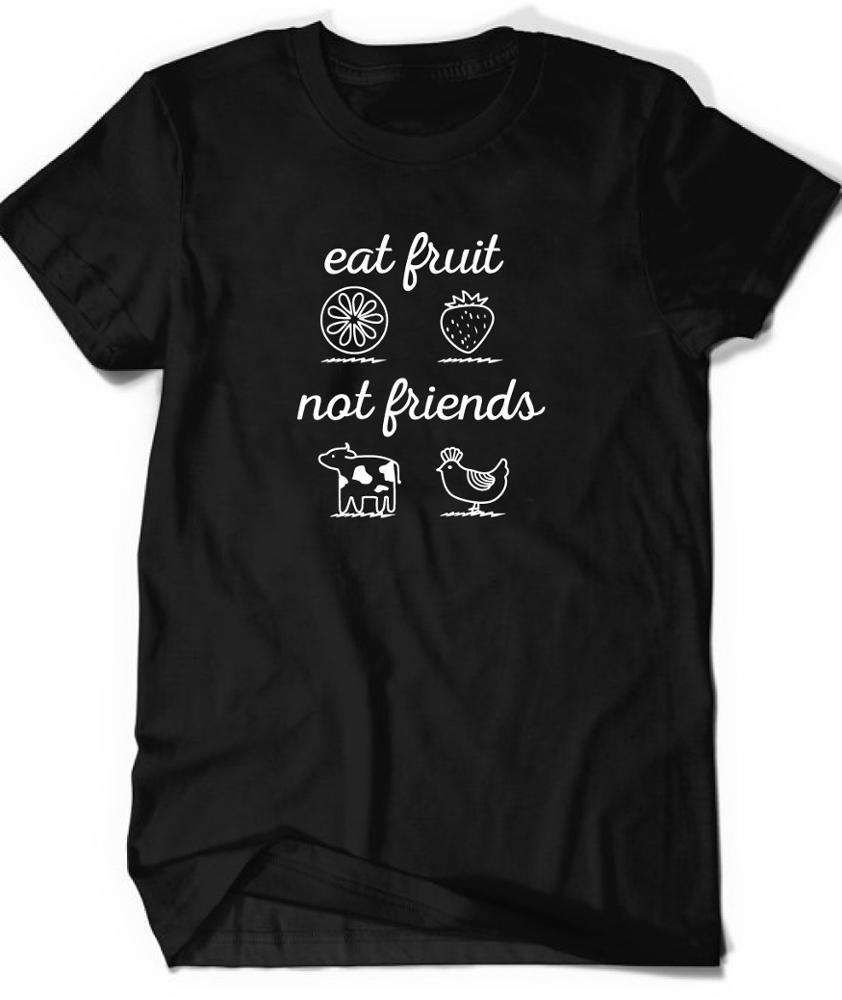 customized professional good price of mens t-shirt fruit not friends printing t shirt