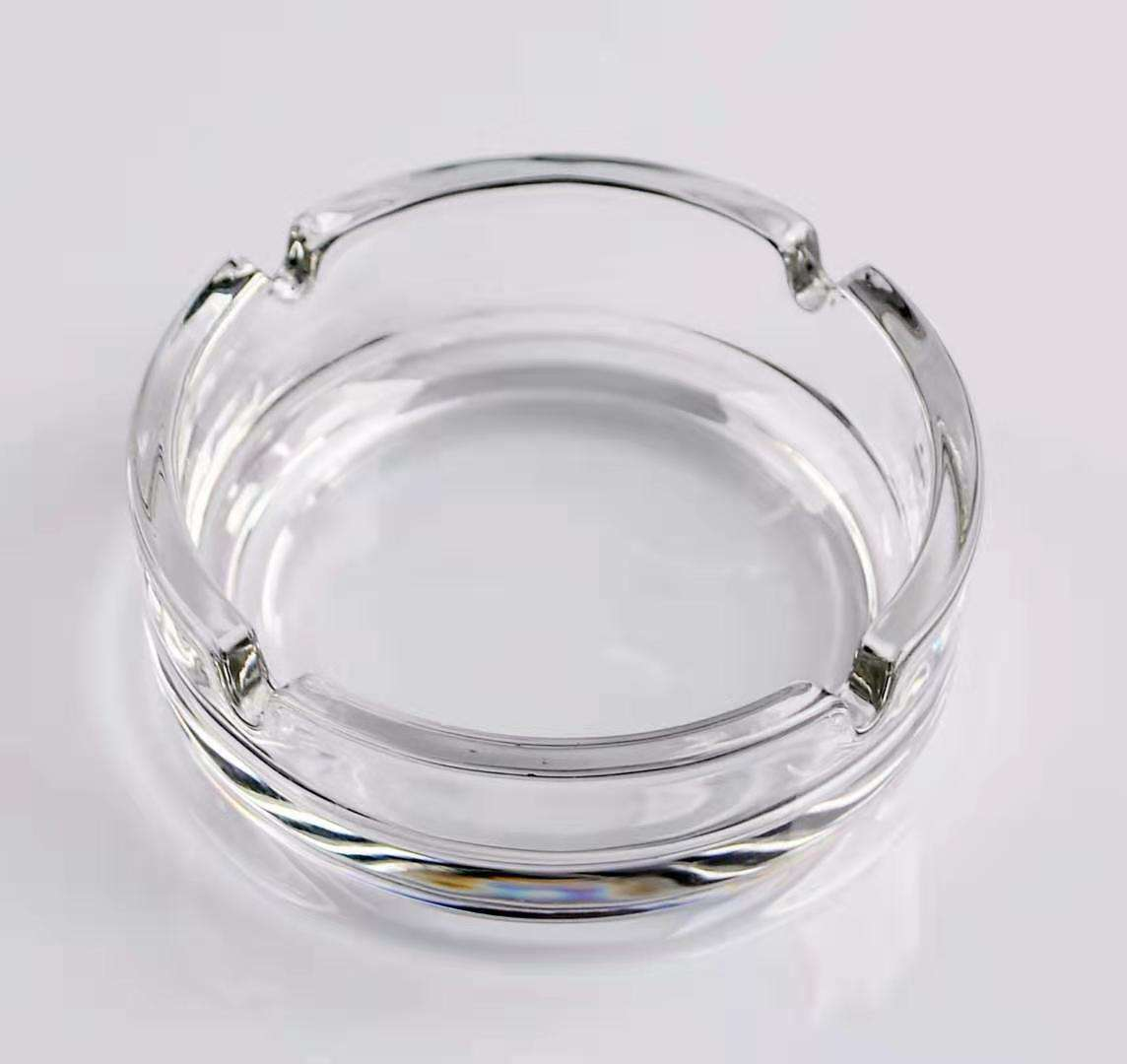 Wholesale High Quality Round Luxury Crystal Glass Ashtrays For Business Gift
