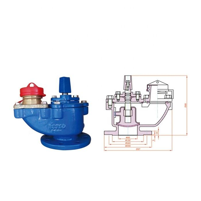 BS750 Cast Iron Ductile Iron Flanged End Fire Hydrant