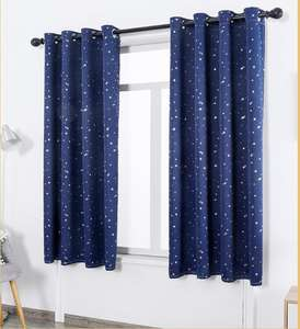 star design child drapery curtain blackout room curtain for children kids drapery curtain