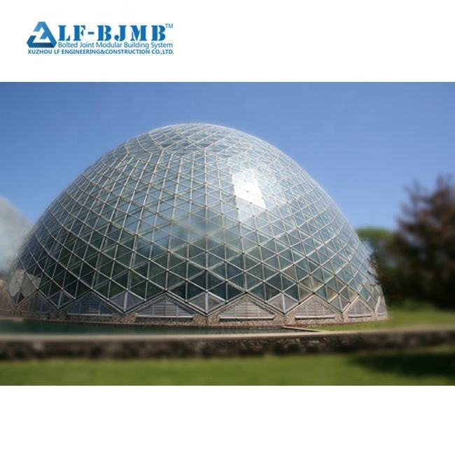 Hot Sale Waterproof Prefab Steel Space Frame Dome Roof Geodesic Dome House for sale