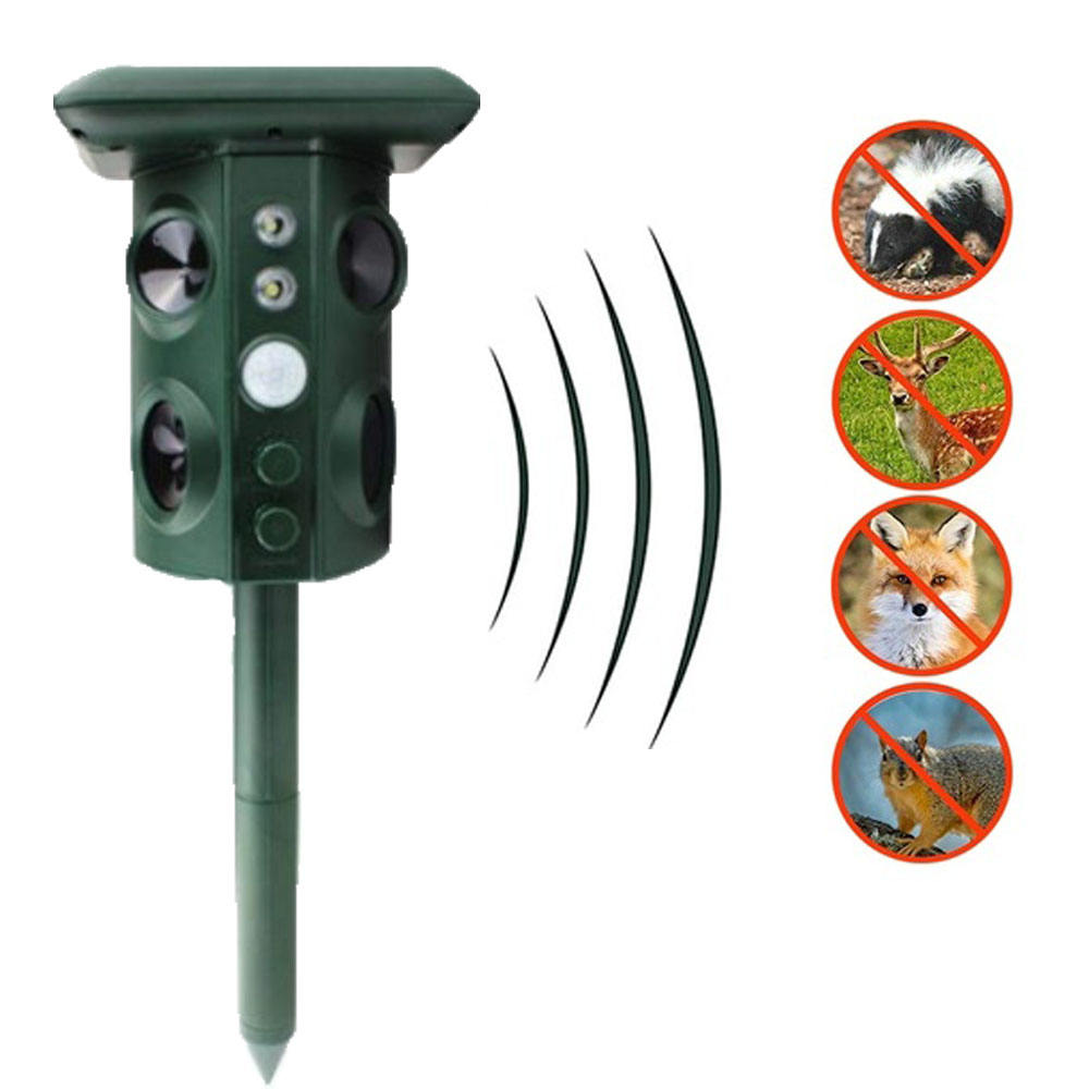 Ultrasonic Animal Repeller Outdoor Waterproof Snake Repeller Mouse Solar Power Animal Repeller
