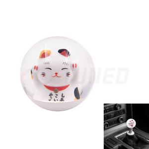 2020 New 65MM Racing Crystal Ball Jdm Maneki Neko Cat Gear Shift Knob