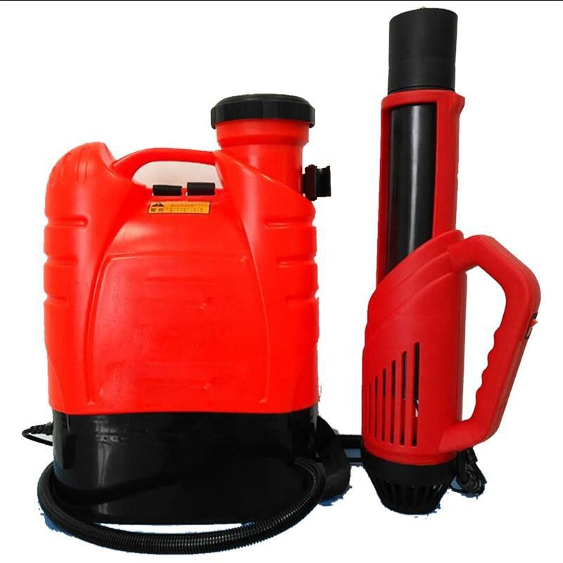Real 16L Battery Powered Cordless Electrostatic Backpack Mist Sprayer Gun Machine UlV Commercial Agriculture Chemical Fogger