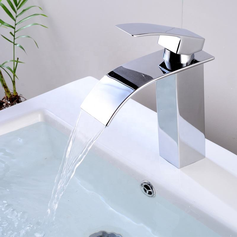 Luxury home high quality brass bathroom waterfall basin faucet