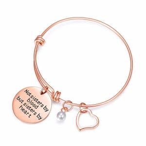Wanita Silver Gold Stainless Steel Perhiasan Adjustable Kawat Gelang Inspirasi Pesona Gelang Bangle