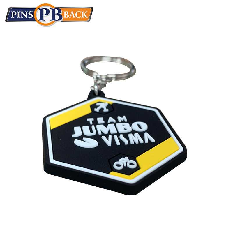 soft PVC rubber keychain Factory Custom Logo Design soft Key Chain Personalized Embossing printing PVC rubber key chain