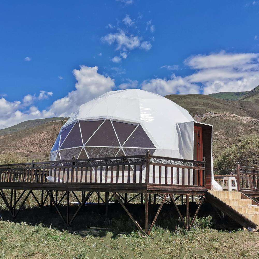 Outdoor Luxury Hotel Room House Eco Geodesic Glamping Dome Tent For Sale