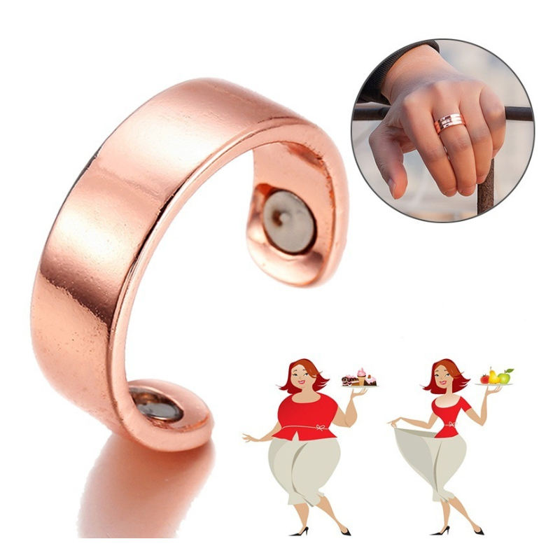 Weight Loss Crystal Rhinestone Ring Slimming Healthcare Ring Magnetic Jewelry ZG