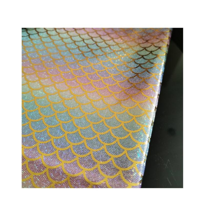 100% polyester gliding knitting fabric for fish scale design gradual change stage cloth