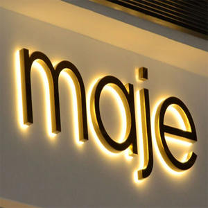 Outdoor OEM Business Logo Design Acrylic Led Backlit Sign