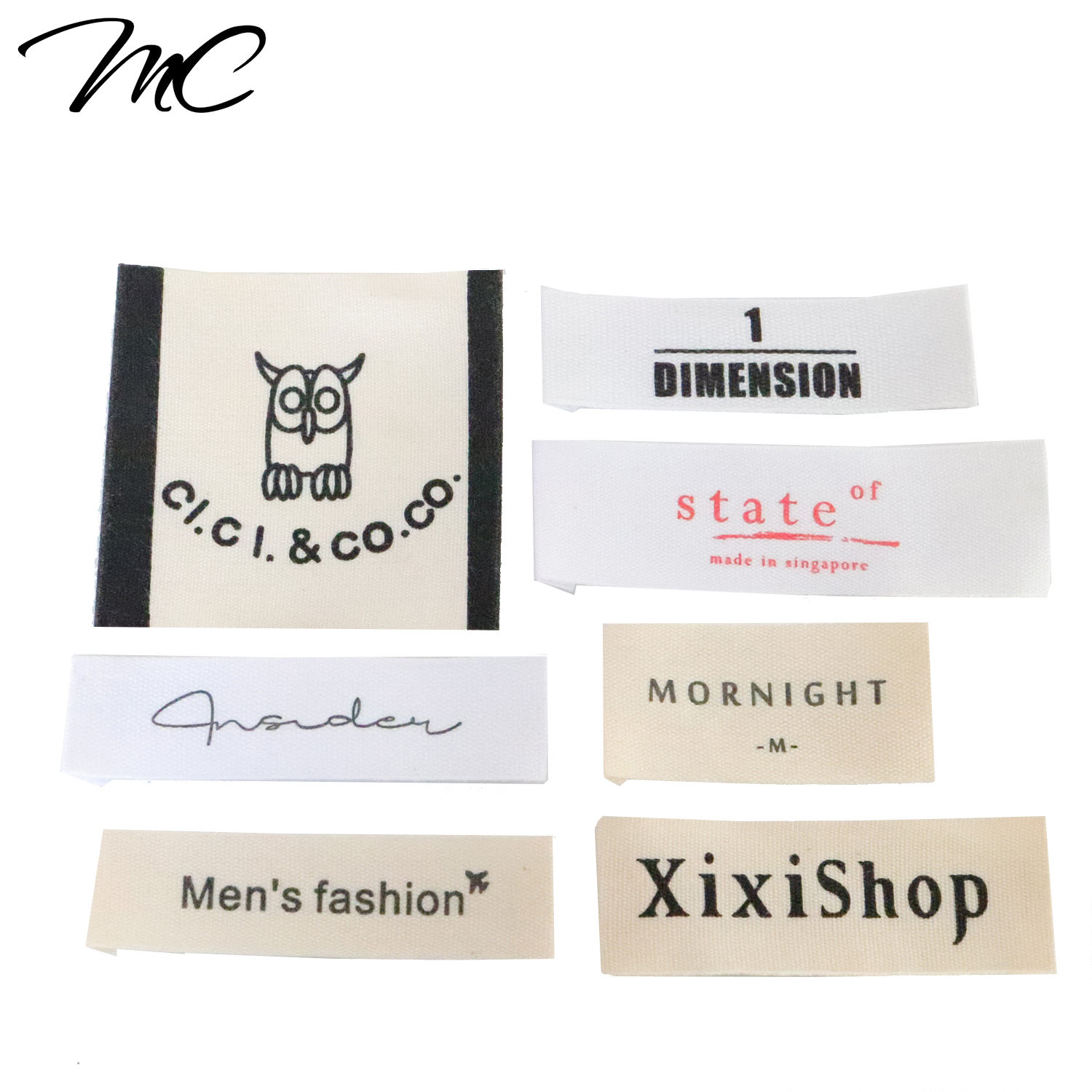 Eco High Quality Die Cut Printed Labels With Own Logo For Clothing